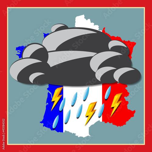 Pop art. La France sous l'orage © brimeux
