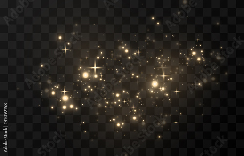 Obraz Light glowing effect star glow sparkles flash dust shining dots colour colourful sun sky white gold bright shine yellow explosion space energy garland backgrounds glare transparent luminous magic. - fototapety do salonu