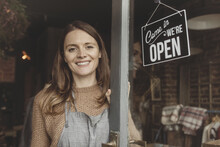 Portrait Of Store Owner Open For Business
