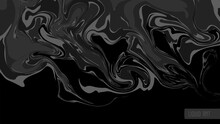 Liquid Art, Black Abstract Background. Fluid Dark Marble Texture. Vector Illustration.