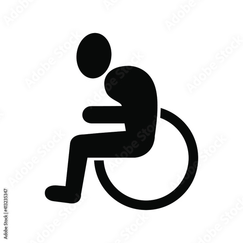Foto Old people are in wheelchairs,  Rehabilitation after trauma, Icon