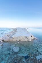 Huge Lumps Of Salt In The Dead Sea, Israel