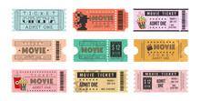 Ticket De Cinema, Tickets, Bilhete De Cinema, Bilhete, Cinema, Pipoca, Filmes, Bilheteria, Retrô, Ingresso Cinema.