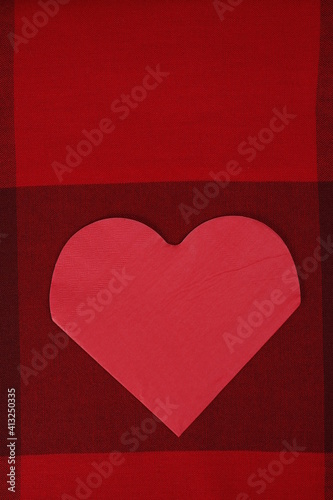 Obraz Serce Walentynki czerwone tło - fototapety do salonu