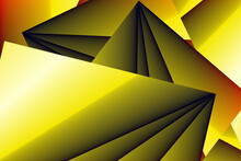 Background With Tri-color Polygons