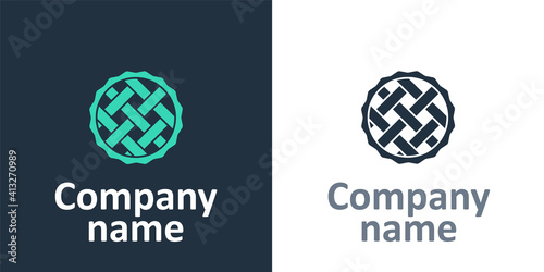 Fototapeta Logotype Homemade pie icon isolated on white background
