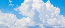 Blue Sky With White Cumulus Clouds At Daytime
