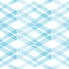 Chevron Seamless Vector Pattern. Watercolor Stripe Blue Background, Abstract Stripe Check Print, Graphic Striped Texture, Pastel Lines Backdrop.