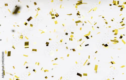 Fotografia, Obraz Confetti Against White Background