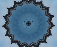 Kaleidoscope In Blue And Soft Blue