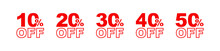 10,50%off Sign On White Background