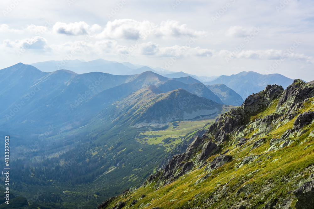 Fototapeta Dolina Pięciu Stawów Polskich - The Valley of the Five Polish Ponds. Tatra Mountains, Poland