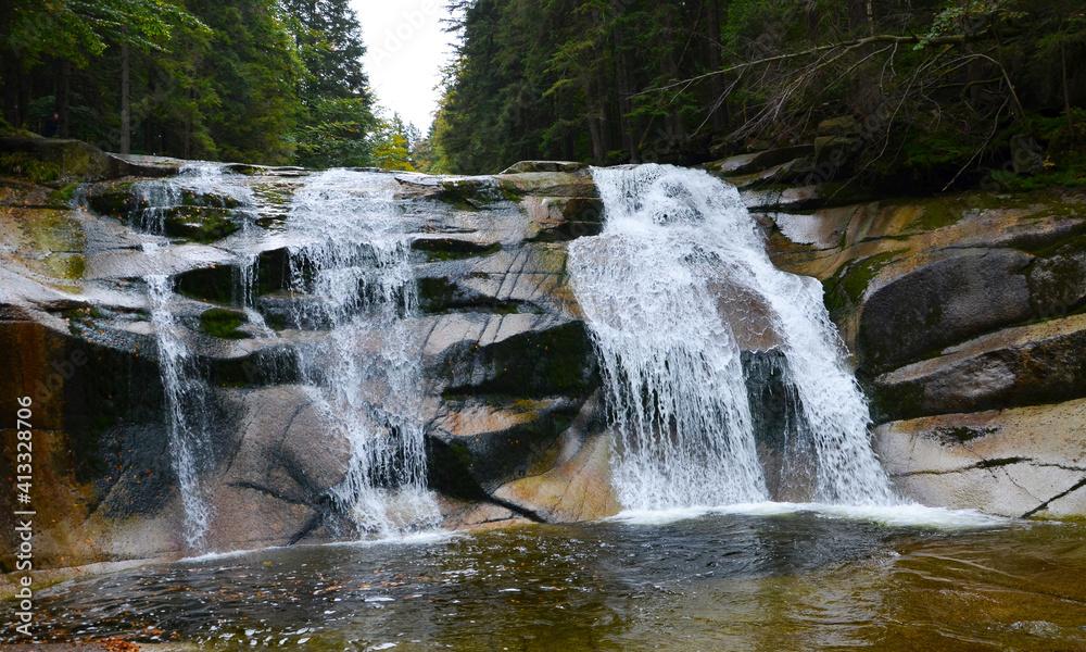 Fototapeta Wodospad w Karkonoszach