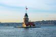 Maiden's Tower in Istanbul. Kiz Kulesi aka Leander's Tower in Istanbul. Istanbul background photo. Travel to Istanbul. Turkey background photo. Landmark of Turkey.