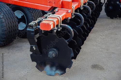 Fotografia, Obraz New modern agricultural disc harrow for tillage