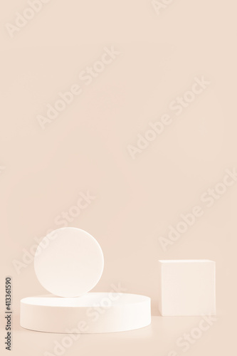 Fototapeta Podium stand, trendy minimal geometric scene  for product obraz