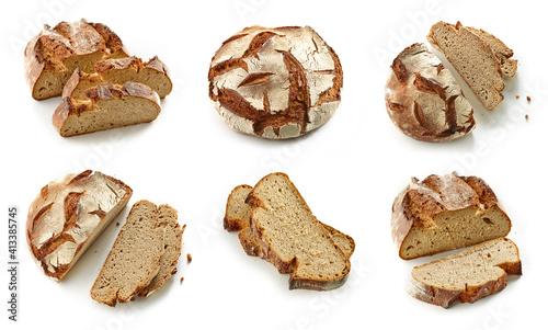 Fototapeta slices of freshly baked bread obraz