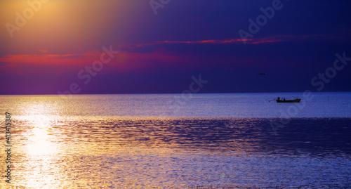 Fototapeta Scenic View Of Sea Against Sky During Sunset obraz
