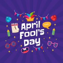 Hand Draw Illustration Of April Fools Day