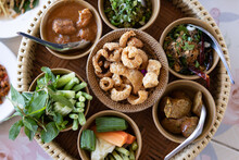 Thai Food Prepared As A Set From The North.