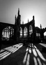 Coventry Old Cathedral Light Beams