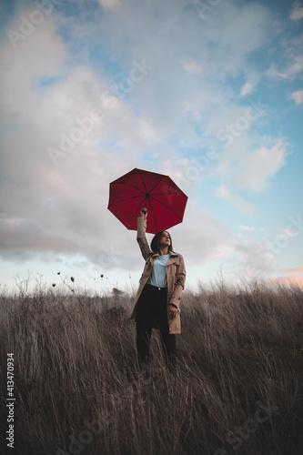 Gioia per la pioggia Fototapet