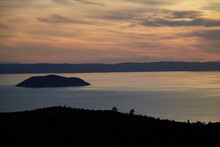 Picturesque Sunset In Prathenonas, Sythonia With View To Cassandra - Halkidiki, Greece