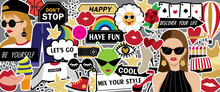Cool Fashion Collage Artwork Vector. Fashion Sticker Vector For Your Art Project.