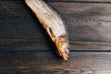 Dried Fish On A Wooden Table Food Beer Snack