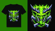 Green Ogre Monster T Shirt Design