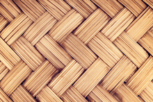 Brown Wicker Texture Bamboo Weave Pattern Background