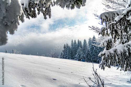 Fototapeta Beskid zimą obraz