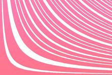 Impianto Di Linee Semicurve Rosa Con Sfondo Bianco