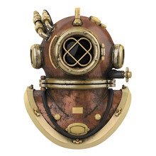 Old Diving Helmet Isolated