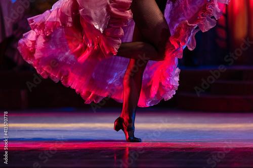 Fényképezés Closeup of Can-can girl dancers