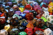 Full Frame Shot Of Colorful Dices