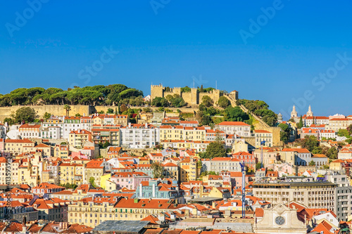 View of Lisbon from the observation point Wallpaper Mural