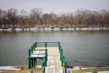 Wintery Scene Of The Banks Of The Wabash River