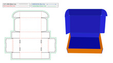 Corrugated Mailer Box Or Shipping Roll End Box Dieline Template And 3D Render File