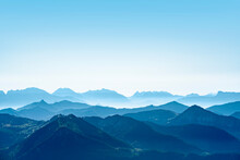 Austria, Alps. Majestic Mountain View From The Top