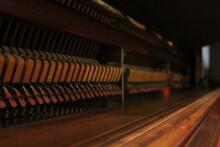 Interior Of Old Grand Piano