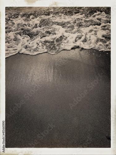 Fototapeta High Angle View Of Wave At Beach obraz