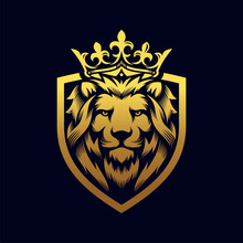 Luxury Lion King Logo Image Vector Template
