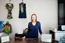 Portrait Small Business Owner In Store
