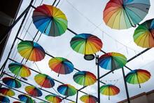 Hanging Colorful Umbrellas