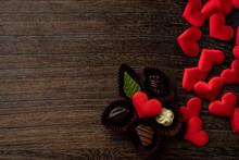 バレンタインチョコレートとハートマーク