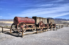 Borax Wagon Near The Town Of Furnace In Death Valley National Park