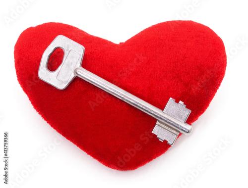 Key lying on a heart. © voren1