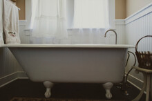 Free Standing Bathtub In Domestic Bathroom