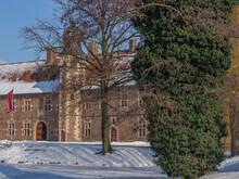 Winter Am Schloss Raesfeld Im Münsterland